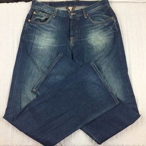 Lucky Brand Button Fly Slim Bootleg Jeans Size 34